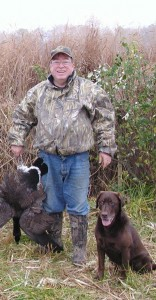 Dr. Jack Scanlon with his retriever