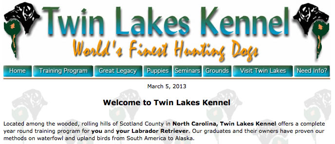 Old Twin Lakes Kennel site