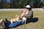 labrador retriever puppies with Woody Thurman