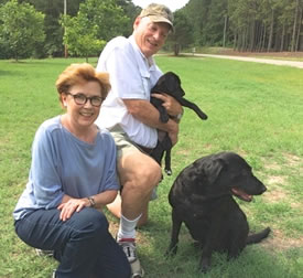 This older, wiser couple chose a Labrador retriever from Twin Lakes